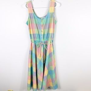 Vintage Murray Meisner  sleeveless patchwork dress